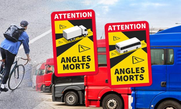 Mise en place du dispositif de signalisation des angles morts des véhicules lourds : adhésifs obligatoires dès janvier 2021