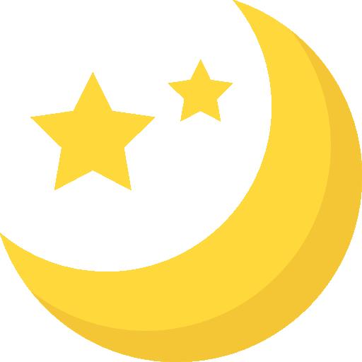 Illutsration de lune et étoiles
