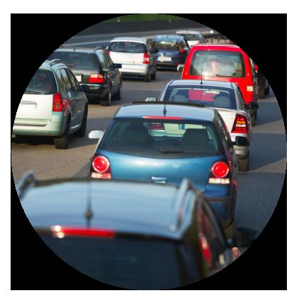 Illustration de véhicules dans les embouteillages
